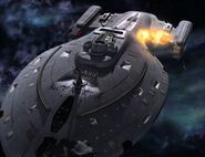 Voyager's breached hull explodes