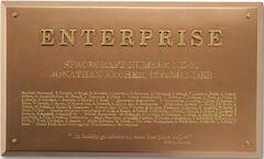 Eaglemoss Enterprise NX-01 dedication plaque
