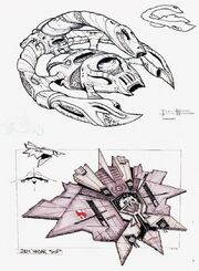 Jem'Hadar fighter, concept art
