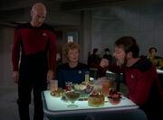 Riker eats Klingon food