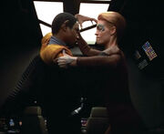 Tuvok and Seven fight
