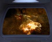 Das klingonische Zivilistenschiff wurde zerstört