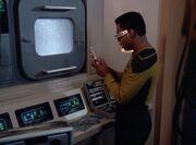 Geordi im Maschinenraum der USS Hathaway