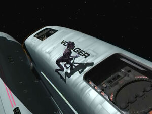 Species 8472 on Voyager hull