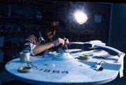 USS Reliant studio model worked upon by ILM's Steve Gawley