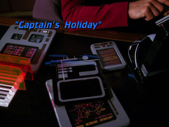 Captain's Holiday title card