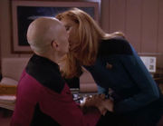 Jean-Luc Picard and Beverly Crusher confides