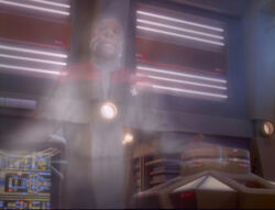 Sisko in temporal displacement