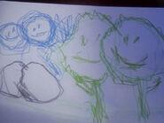 Bild von der gealterten Molly gemalt