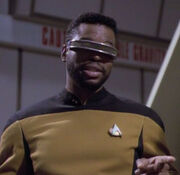 La Forge with beard