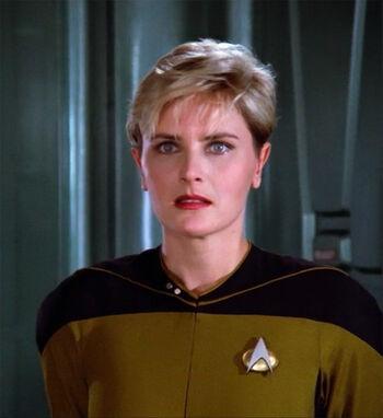 """Lieutenant Natasha Yar in <a href=""""/wiki/2364"""" title=""""2364"""">2364</a>"""