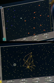 Sensor grid in relation to andorian and tellarite space