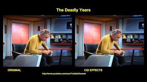 """TOS """"The Deadly Years"""" - """"Les années noires"""" - comparaison des effets spéciaux"""