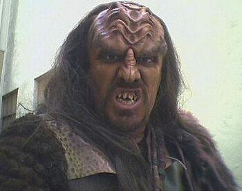 Thomas Williams as a Klingon