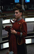 USS Enterprise-A yeoman with honor cord, 2287