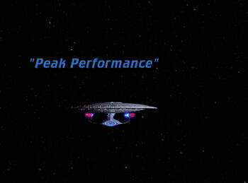 Peak Performance title card