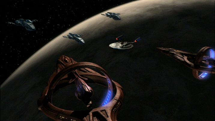 Andorian warship-Enterprise-Vulcan cruiser standoff.jpg