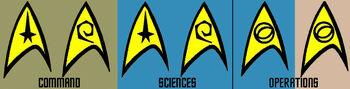 Starfleet division insignia, 2265