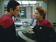 Kampf zwischen Janeway und Chakotay