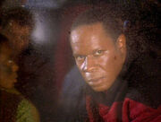 Sisko looks out