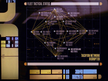 Display graphic depicting the <i>Endeavour</i> serving in Picard's fleet (2368)