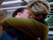 Tasha kisses crewman