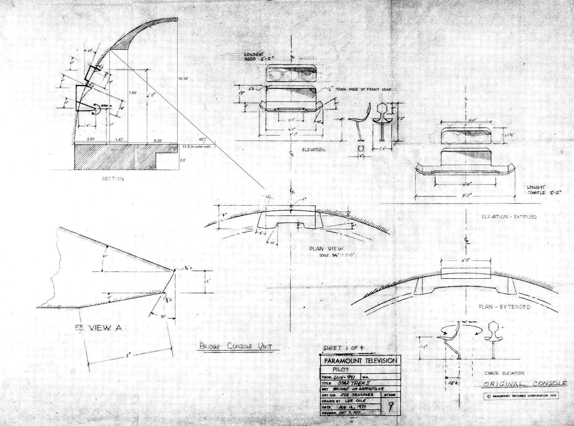 Image uss enterprise bridge phase ii set construction blueprint full resolution malvernweather Choice Image
