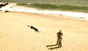 Flight test at the beach