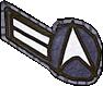 Rangabzeichen Crewman 2. Klasse Sternenflotte der Erde