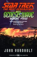 The Genesis Wave Book Two audiobook cover, US cassette edition