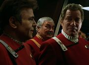 Chekov, Kirk, and Scotty