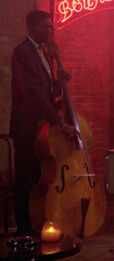 Double bass, bourbon street bar