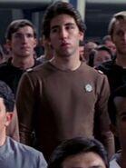 Besatzungsmitglied der Enterprise in einteiliger brauner Uniform 2273