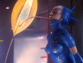 Blue butterfly dancer