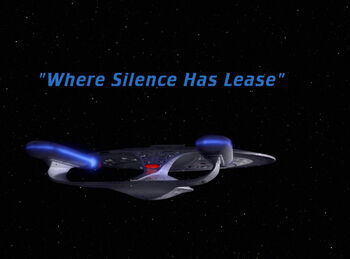 Where Silence Has Lease title card