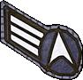 Rangabzeichen Crewman 1. Klasse Sternenflotte der Erde