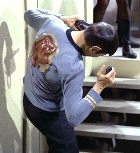 Neural parasite attacks Spock