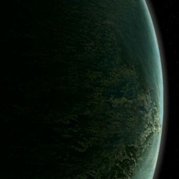 Sky Spirits' Homeworld from orbit