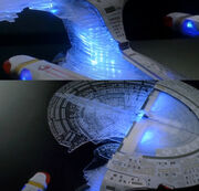 The Official Star Trek The Next Generation Build the Enterprise-D close-up of the model