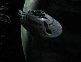 USS Bellerophon orbiting Romulus