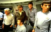 Wise, Shatner, Roddenberry, Kelly, Nimoy