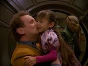 Miles O'Brien und seine Tochter Molly 2372
