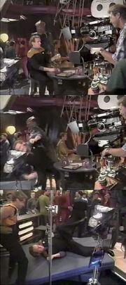 Filming O'Brien-Jem'Hadar stunt
