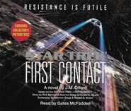 First Contact novelization audiobook cover, CD edition