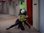 Thelev stabs Kirk