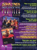 Star Trek Deep Space Nine - Profiles Sell Sheet