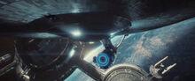 USS Enterprise departs Starbase 1, 2259