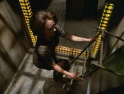 B'Elanna using a ladder