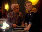 O'Brien sagt Quark die Zukunft voraus