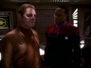 Odo and Benjamin Sisko, 2371